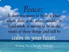 PeaceCalmInyourHeart